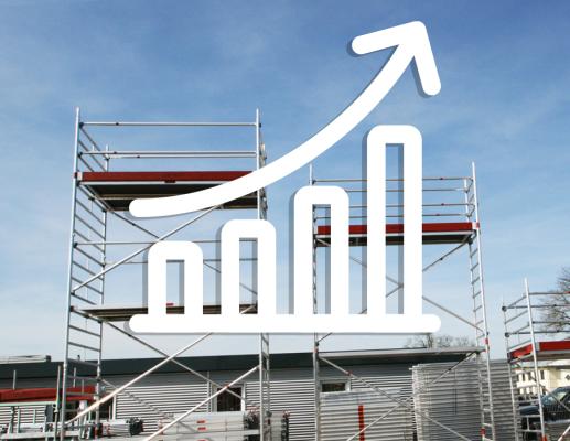 Rohstoffpreise: Jetzt erhöhen sich die Preise - Rollgerüste und Leitern - Rohstoffpreise erhöhen sich