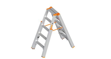 Neue Layher Treppenstehleiter 1062 mit extra breiten Stufen  - Layher Treppenstehleiter Topic 1062 mit extra breiten Stufen