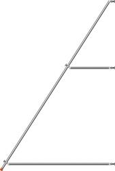 Fahrgerüst Stütze Länge 5,0 m