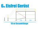 Eisfrei Gerüst Länge 6,14 m