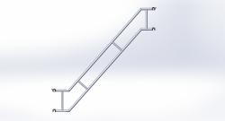 Treppengeländer doppelt H 3,00 / 1,50 m