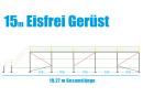 Eisfrei Gerüst Länge 15,35 m