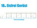Eisfrei Gerüst Länge 18,42 m