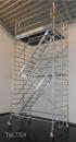 Fahrgerüst mit Treppe L 2,50 m AH 4,60 m