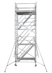 Fahrgerüst mit Treppe L 3,00 m AH 14,10 m