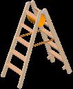 Holzstehleiter mit extra breiten Stufen