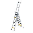 Stufen-Mehrzweckleiter 3-teilig mit nivello-Traverse